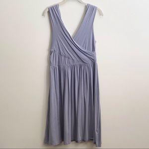 Garnet Hill Blue Faux Wrap Top Dress